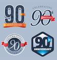 90 Years Anniversary Logo vector image