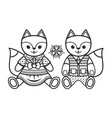 baby toy fox isolated picture vector image