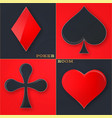 poker casino poster logo template desig vector image