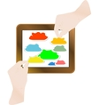 touch screen tablet vector image