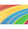 Watercolor rainbow background vector image