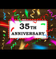 35 anniversary gold numbers vector image vector image