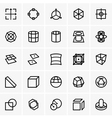 3d modelling icons vector image vector image