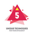 5 unique techniques for your efficiency cover for vector image