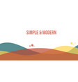 abstract header website modern style vector image vector image