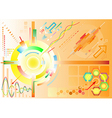 Abstract high-tech background vector image vector image