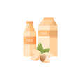 almond milk icon in flat style vector image vector image
