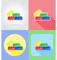 baby flat icons 13 vector image vector image