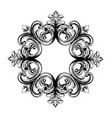 baroque vintage ornament decorative design vector image vector image