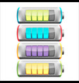 battery symbol color collection set vector image