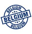 belgium blue round grunge stamp vector image vector image