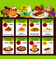 bulgarian cuisine restaurant lunch menu template vector image vector image