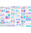 bundle infographic elements template vector image vector image