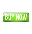 buy now green square 3d realistic isolated web vector image vector image