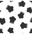 chef hat icon seamless pattern background cooker vector image