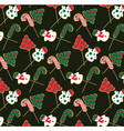 christmas-cookie-pattern vector image