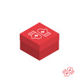 christmas gift box isometric icon vector image vector image
