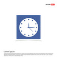 clock icon time icon - blue photo frame vector image