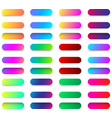 colorful web button templates isolated on white vector image vector image
