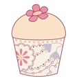 Cupcake vintage vector image vector image