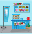 donuts small shop vector image