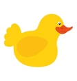duck toy kid isolated icon vector image