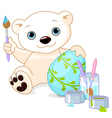 Easter Polar Bear vector image