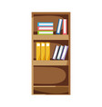 education bookcase with books and folder documents vector image vector image