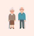 elderly cartoon couple grandmother vector image