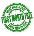 first month free sign or stamp