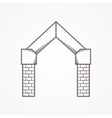 Flat line icon for gates arch vector image vector image