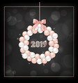 happy new year card invitation greetings 2019 vector image vector image