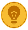 hint bulb gold coin vector image vector image