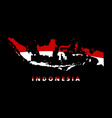 indonesia map red and white indonesia state vector image vector image