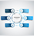 info graphic with abstract labels and pointers in vector image vector image