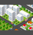 isometric 3d city urban vector image