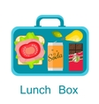 Lunch box Snack pack for student vector image