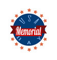 memorial day typography design layout for usa vector image vector image