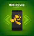 mobile payment concept design template Mobile vector image vector image
