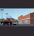muscle car on parking lot vector image vector image