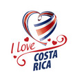 national flag costa rica in shape a vector image vector image