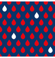 Navy Blue Red White Water Drops Background vector image vector image