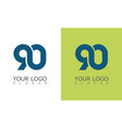 number 90 logo vector image vector image