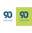 number 90 logo vector image