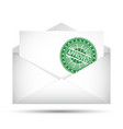open envelope approved rubber stamp success vector image vector image
