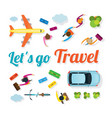 people with vehicles travel vector image