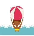 pool party enjoy icon vector image vector image