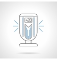 Portable air ionizer flat line icon vector image