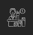 primaries chalk white icon on black background vector image