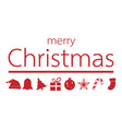red christmas ornament with merry christmas text vector image vector image
